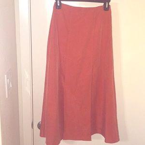 ASOS dark orange two slipped skirt